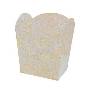ゴミ箱 ホワイトグリッターローズ バラ柄のアクリル製ダストボックス 上品な柄と色使いが素敵 バラ雑貨 薔薇雑貨 バラ雑貨 ばら雑貨 ローズ雑貨|recommendo