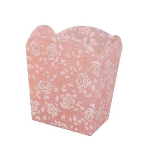 ゴミ箱 シモーヌ バラ柄のアクリル製ダストボックス アクリル製品で一番売れ筋の柄です バラ雑貨 薔薇雑貨 バラ雑貨 ばら雑貨 ローズ雑貨|recommendo