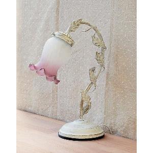 卓上ランプ ホワイトランプ ムスカリ 1灯 バラをモチーフとしたインテリア卓上ライト 3段階調光タッチセンサー式|recommendo