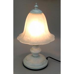 卓上ランプ ホワイト アンティーク調のインテリアライト|recommendo