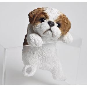 置物 ハンギングドッグ シーズー 子犬のぶら下がり置物 癒やしグッズ 代引不可 recommendo