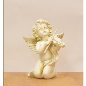 天使の置物 エンジェル バイオリンを持った天使 代引不可