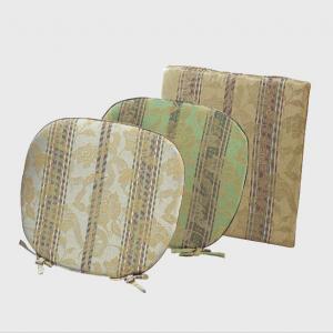 LN1415 川島織物セルコン 花とストライプ シートクッション 48×48 ベージュ|recommendo