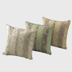 LL1415 川島織物セルコン 花とストライプ 背当クッションカバー ベージュ|recommendo