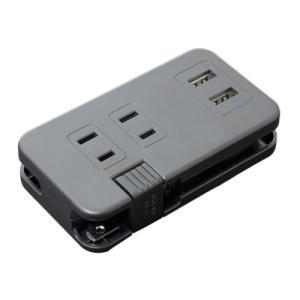 ミヨシ モバイルタップ USB2ポ-ト 2.4A対応 AC3口付き 黒 IPA-24AC2/BK 代引不可|リコメン堂