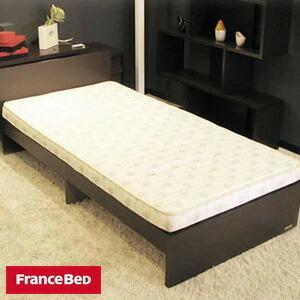 フランスベッド 高密度スプリングマットレス付きワンパッケージベッド ASパックインワン WE ウエンジ色 /BCH ビーチ色 代引不可|recommendo