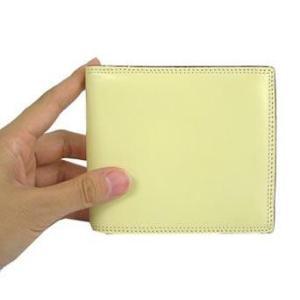革の宝石コードバン 二つ折財布 小銭入れ付 ブラック|recommendo