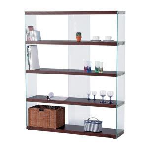 シェルフ ラック 棚 ワイドグラスシェルフ HAB-625BR|recommendo