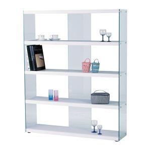 シェルフ ラック 棚 ワイドグラスシェルフ HAB-625WH|recommendo