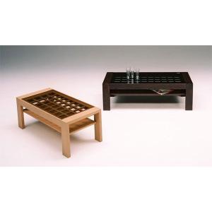 ガラス格子 デザイン ローテーブル(代引き不可)|recommendo