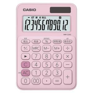 カシオ カラフル電卓 ミニジャストタイプ ペールピンク MW-C20C-PK-N 1台|recommendo