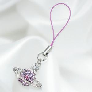 ヴィヴィアン ウエストウッド vivienne westwood 携帯ストラップ wild flower phone charm lilac ストラップ|recommendo