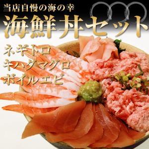 海鮮丼セット B マグロたたき キハダマグロ エビ ちらし寿...