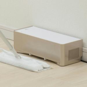 電気ちりとり ZN-DP24-WH 電動ちり取り フロアワイパー用掃除機 吸引 吸い取り 紙パック式...