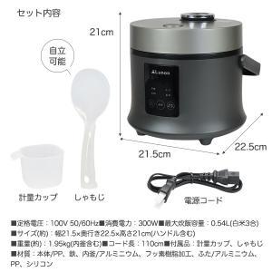 3.5合炊き炊飯ジャー TDP-001K 炊飯器 3合 一人暮らし 二人暮らし 米炊き 炊飯 ヨーグルト ケーキ 雑炊 おかゆ recommendo 07