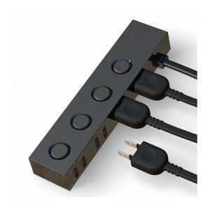 エレコム 電源タップ 延長コード デザインタップun modo 2ピン・4個口・ロック付 AVT-D6-2420BK 代引不可|recommendo