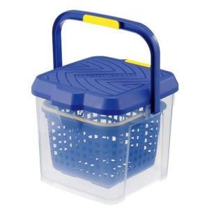 イノマタ化学 かしこいバケツ 17L ブルー 3211BL 洗車 収納 踏み台|recommendo