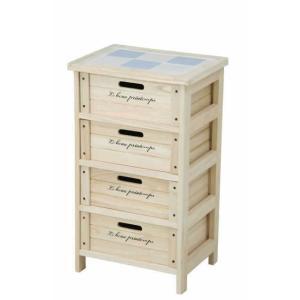 木製4段ボックス HF05-003(N) ナチュラル|recommendo
