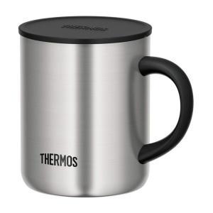 THERMOS サーモス マグカップ ステンレス JDG-350 S 350ml マグ コップ 魔法瓶 保温 保冷 蓋付き フタ|recommendo