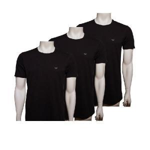 エンポリオアルマーニ emporio armani 下着 t-shirt 3-pack 110821 cc712 00020 メンズ アンダーウェア tシャツ ブラック|recommendo