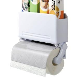 【商品詳細】  ●ラップが4本とキッチンペーパーが収納できます  ●ペーパーの汚れを防ぐ帯電防止加工...