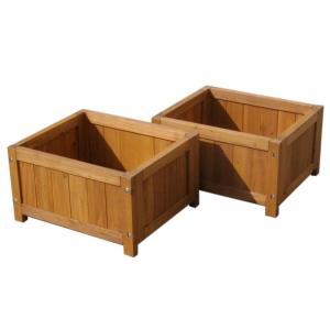 ベンチ 木製 屋外 デッキ 縁台 木製 デッキ縁台プランター2個組 プランター プランターカバー DIY 木製 天然木 代引不可 recommendo