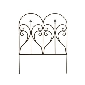 アイアンエッジ フィニアル 6枚組 フェンス 低い アンティーク ガーデン ガーデニング おしゃれ ...