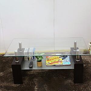 リビングテーブル ガラステーブル 105ラブ|recommendo