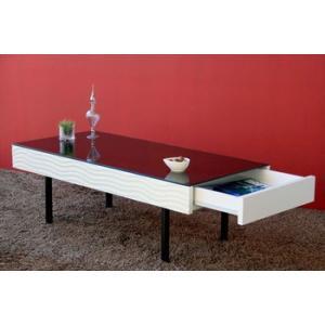 【SUR/シュール】 リビングテーブル センターテーブル テーブル リビングテーブル 机 リビング 鏡面 モノトーン|recommendo