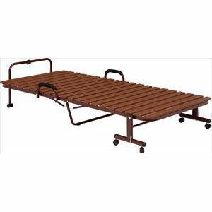 折りたたみプラすのこベッド KH-3877-BR-S|recommendo