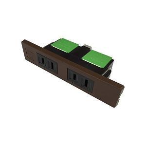 パナソニック電工 家具用ミニWコンセント チョコ...の商品画像
