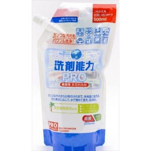 ヒューマンシステム 洗剤能力 PRO詰替用 500ML 住居洗剤 フローリング たたみ 床用洗剤 代引不可|recommendo