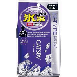 ■商品特徴 クールな使用感で汗のベタつき・ニオイをしっかり拭き取り、肌をスッキリ爽快にするデオドラン...
