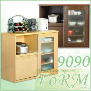 ガラス食器棚 フォルム シリーズ Type9090|recommendo