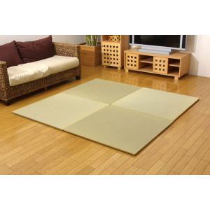 純国産 ユニット畳 『シンプル』 88×88×2.7cm(3枚1セット)|recommendo
