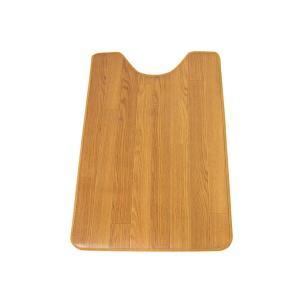 ラグ ダイニング 撥水 お手入れ簡単 木目調 サッと拭けるトイレマット 90×60 代引不可