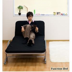 ベッド パイプベッド ワンタッチベッド RB-B9618-ブラック 送料無料|recommendo