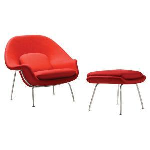 エーロ サーリネン ウームチェアー オットマン Eero Saarinen Womb Chair Ottoman 1年保証付 送料無料|recommendo