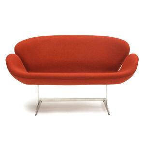 スワンソファー ファブリック アルネ ヤコブセン Arne Jacobsen Swan Sofa ミッドセンチュリー 1年保証付 送料無料|recommendo