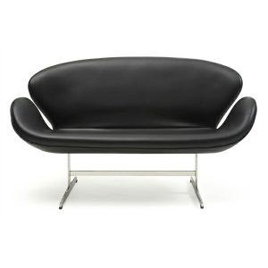 スワンソファー 総本革 アルネ ヤコブセン Arne Jacobsen Swan Sofa ミッドセンチュリー 1年保証付 送料無料|recommendo