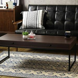 テーブル クレバリー cleverly IW-225 ローテーブル センターテーブル コーヒーテーブル リビングテーブル 引出し 引き出し 120 木製 金属製 脚 北欧 おしゃれ|recommendo