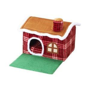 【商品詳細】 可愛いチェック柄のお庭つきハウス。 中のクッションはリバーシブルで秋冬通して快適ハウス...