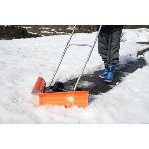 V字型スノーラッセル 車輪付き キャスター付き 雪かき 雪押し スノーラッセル 除雪 排雪 代引不可 recommendo