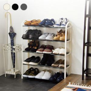 シューズラック 5段 収納 靴箱 シューズボックス 下駄箱 薄型 スリム 靴入れ シューズbox 一人暮らしの写真