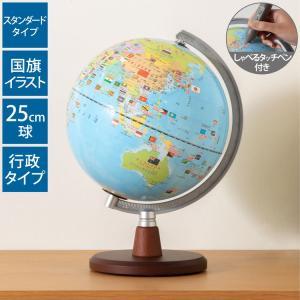 地球儀 レイメイ藤井 しゃべる国旗付き地球儀スタンダード 20径 OYV46 音声機能 子供用 学習 自由研究 20cm|recommendo