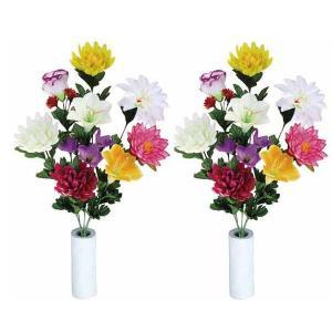 アートフラワー 造花 光触媒 光の楽園 仏花ゆり2個セット recommendo