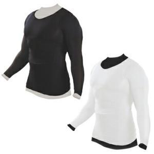加圧インナーシャツ 加圧シャツ 長袖 メンズ ブラック ホワイト Muscle Project マッスルプロジェクト 棚橋弘至 推薦|recommendo