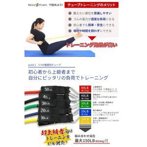 Muscle Project マッスルプロジェクト トレーニングチューブセット ゴムバンド ストレッチバンド チューブ トレーニング|recommendo|03