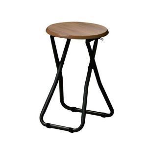 折り畳みスツール PFC-M18 ダイニング リビング スツール 椅子 折り畳み スツール 丸椅子 ...