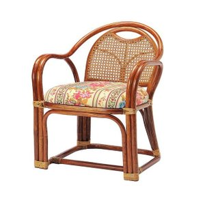 ラタンアームチェア ロータイプ SH390 R-A390 ロータイプ 高座椅子 座椅子 座いす フロアチェア 椅子 いす 籐 リビング 代引不可の写真